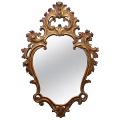 Baroque Style Carved Giltwood Mirror