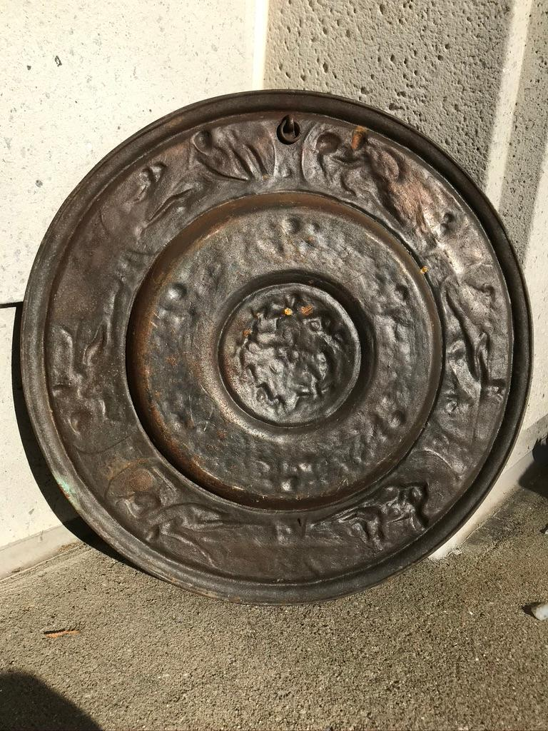 19th Century Berlin Cast Iron Charger with Mythological Scenes For Sale 12