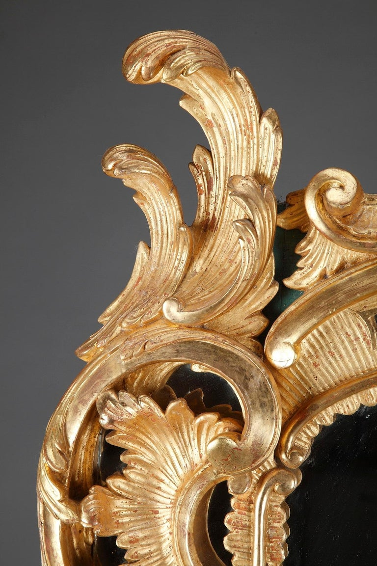 Baroque Style Giltwood Mirror For Sale 6