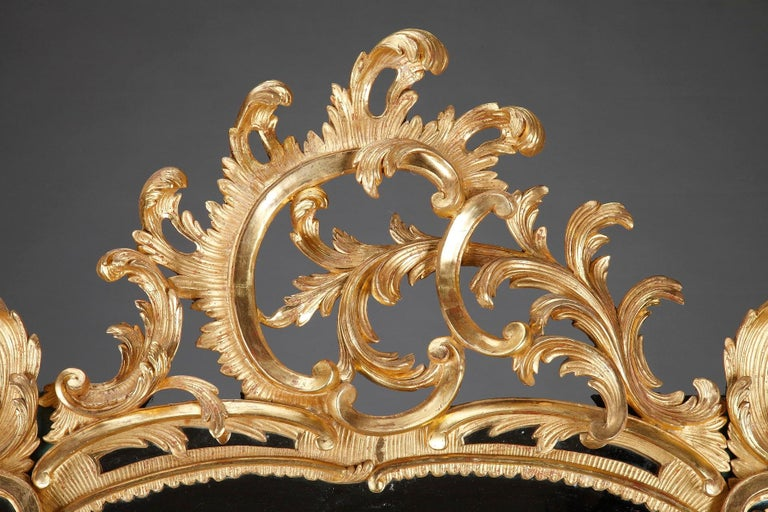 French Baroque Style Giltwood Mirror For Sale