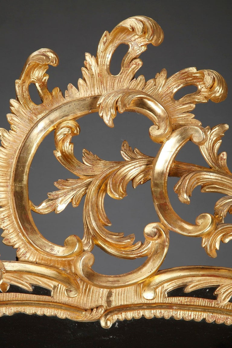Baroque Style Giltwood Mirror In Good Condition For Sale In Paris, FR