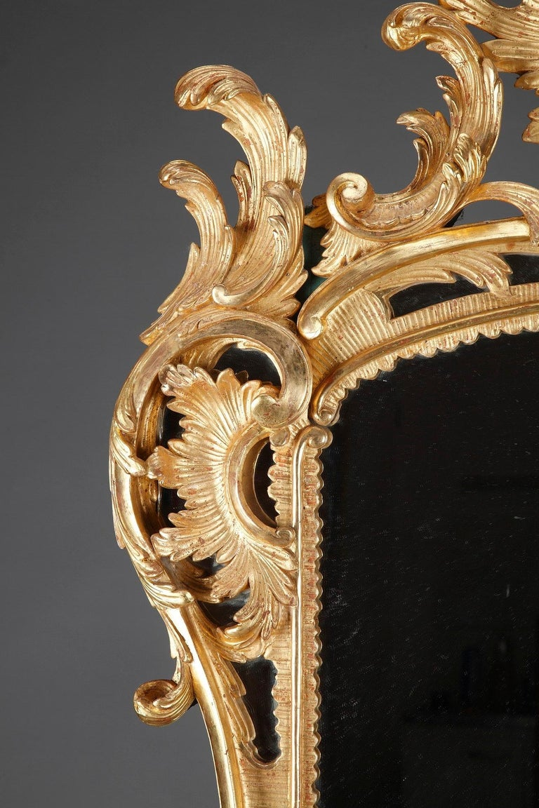 19th Century Baroque Style Giltwood Mirror For Sale