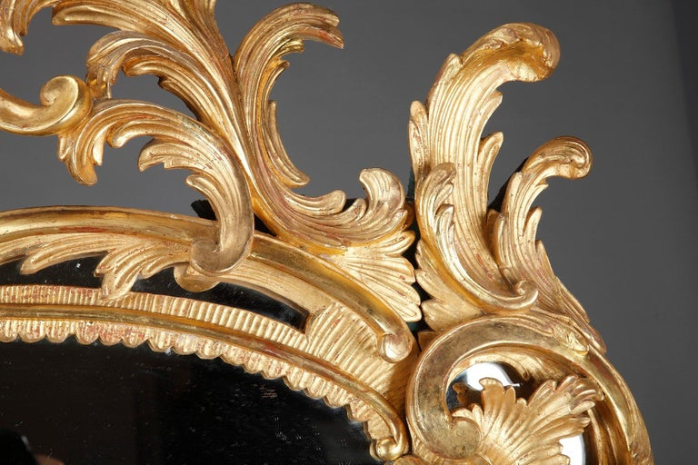 Baroque Style Giltwood Mirror For Sale 2