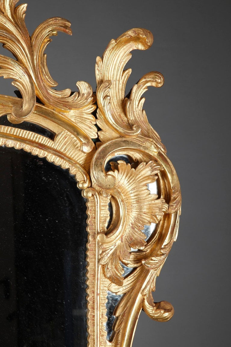 Baroque Style Giltwood Mirror For Sale 3