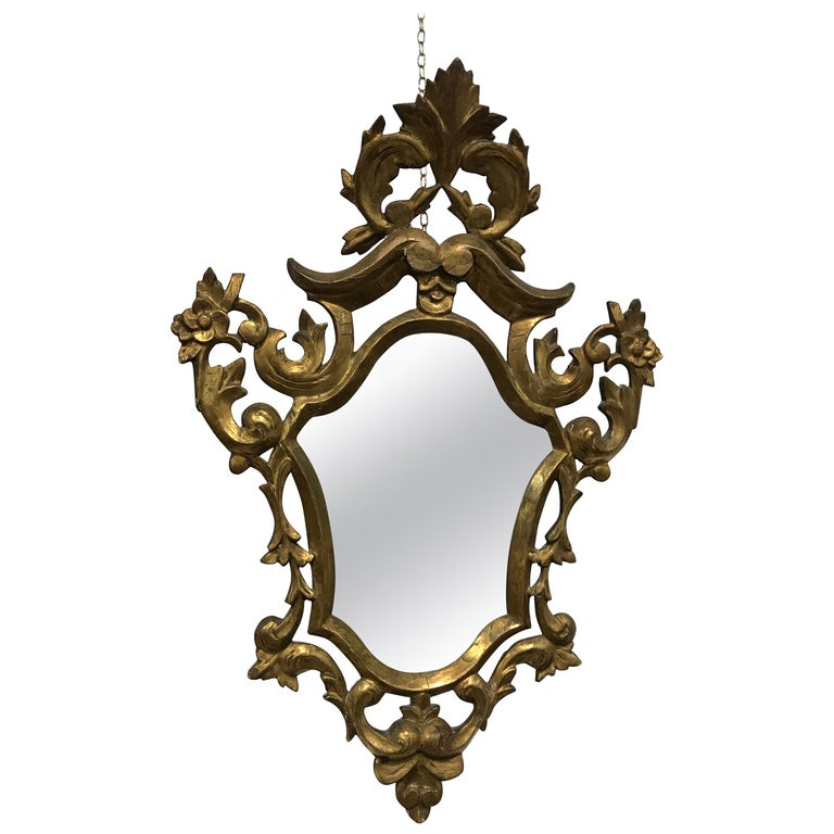 Baroque Style Mirror, France, 19th Century For Sale