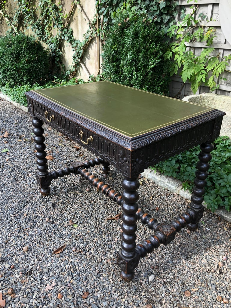Baroque Style Relief Carved French Writing Table Desk For ...