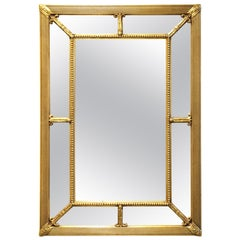 Baroque Style Wall Mirror With Giltwood Frame