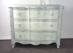 Baroque Style White Washed Commode