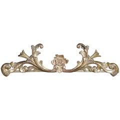 Baroque Supraporte / Decorative Elements, Gilded Wood, 18th Century