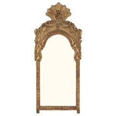 Baroque Swedish Giltwood Mirror