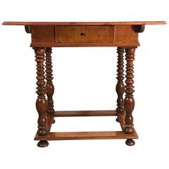 Baroque Table, Southern Germany, Augsburg Region 1750, Walnut