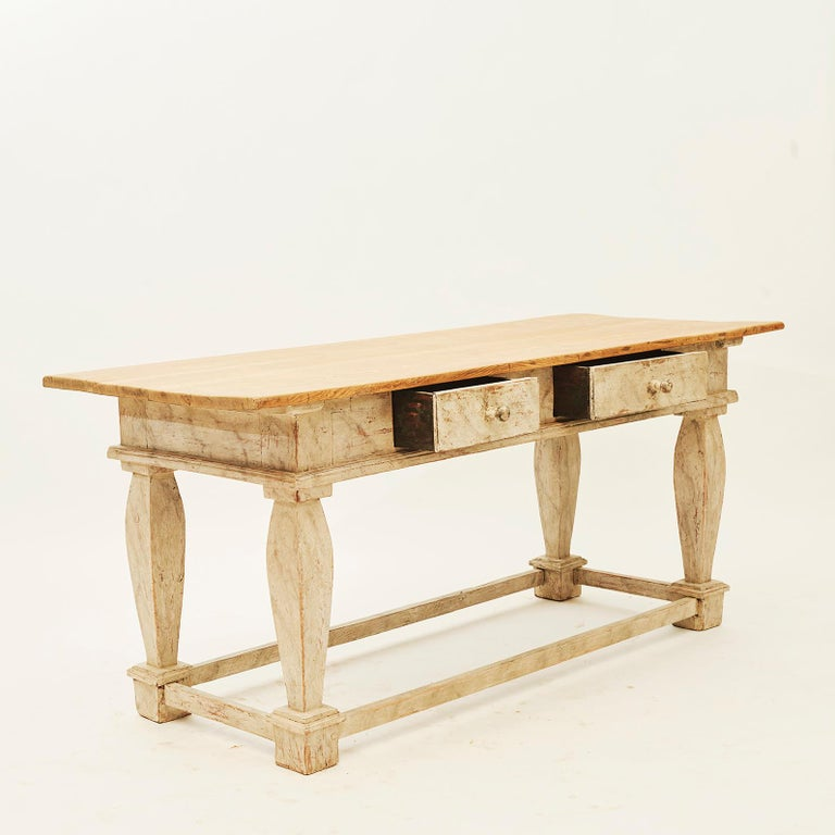 Baroque Table, Sweden, Late 18th Century For Sale 3