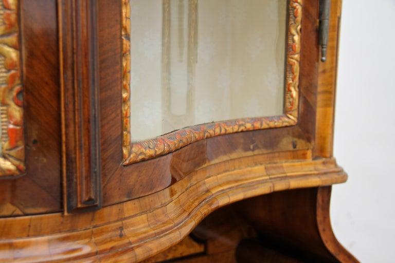 Baroque Vitrine Cabinet, Austria, circa 1760 For Sale 6