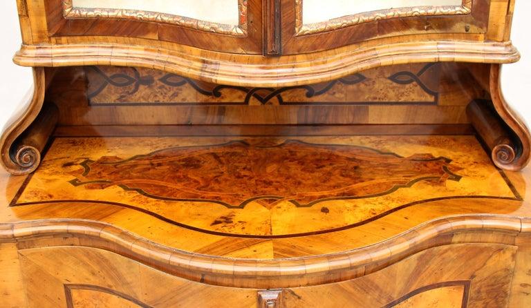Brass Baroque Vitrine Cabinet, Austria, circa 1760 For Sale