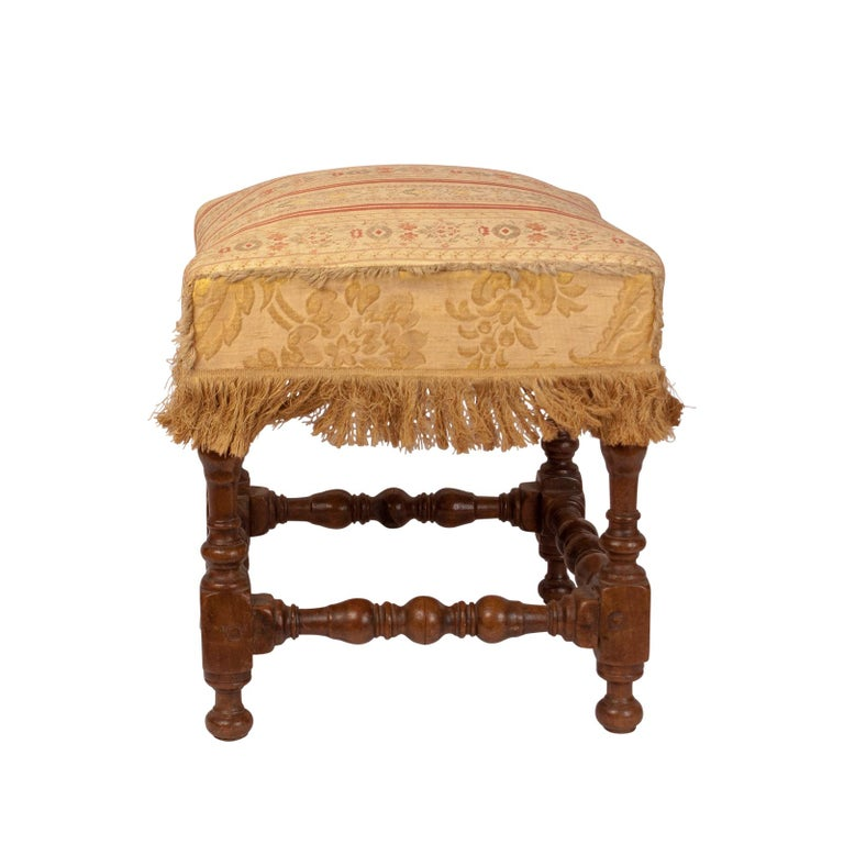 Baroque Walnut Stool, 17th Century In Good Condition For Sale In San Francisco, CA