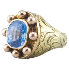 Baroque Yellow Gold Ring 14 Karat Solid 73.4 Gram
