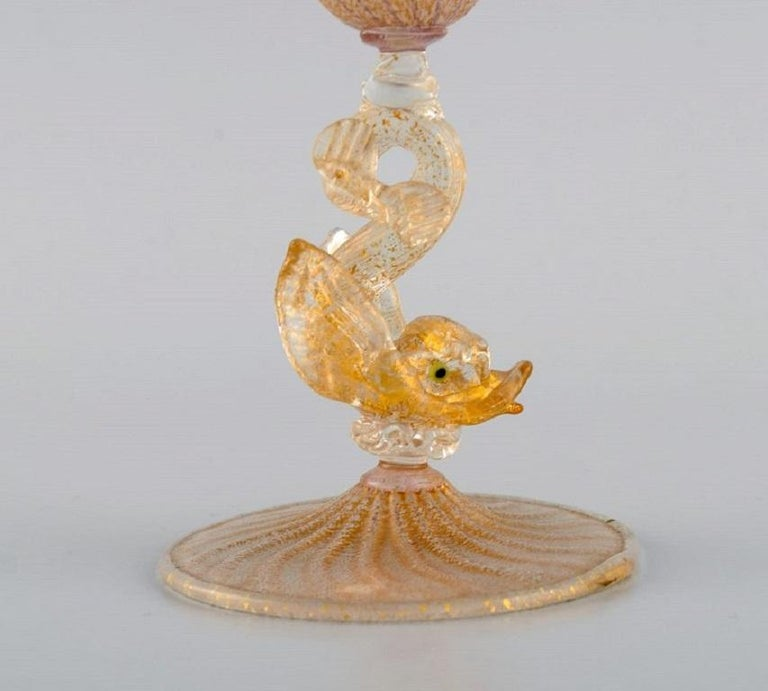 Italian Barovier and Toso, Venice, Rare Organically Shaped Vase in Mouth Blown Art Glass For Sale