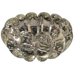 Barovier Et Toso Ashtray/Centerpiece/Pocket Emptier Murano Glass, 1940, Italy