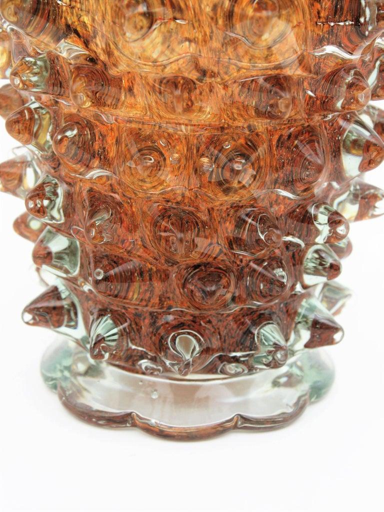 Barovier e Toso Murano Glass 'Rostrato' Vase, 1930s For Sale 2