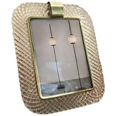 Barovier e Toso Portafoto Murano Glass Brass, 1940, Italy