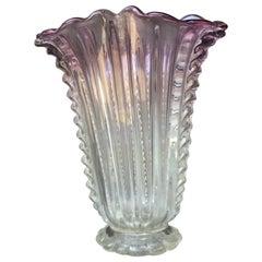 Barovier e Toso Vase Murano Glass 1940 Italy