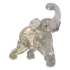 Barovier Elephant Irridescent Murano Glass 1940 Italy