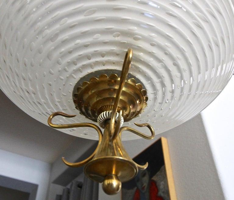 Barovier Murano Glass Brass Chandelier or Pendant  For Sale 5