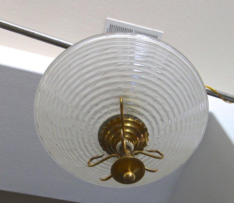 Barovier Murano Glass Brass Chandelier or Pendant  For Sale 1