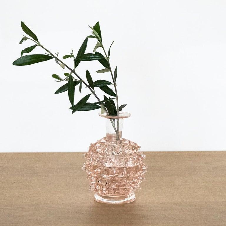 20th Century Barovier Pink Glass Bud Vase