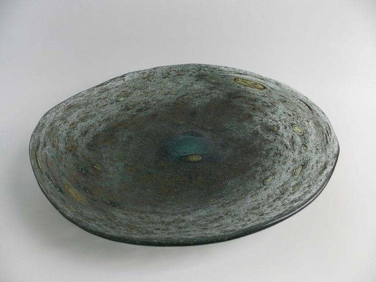 Mid-20th Century Barovier Spuma Di Mare Platter For Sale