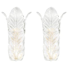 Barovier & Toso Acanthus Sconces, Pair