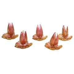 Barovier & Toso Attributed Modern Murano Glass Flowers