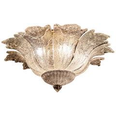 Barovier & Toso Ice Color Ceiling Light or Flush Mount Murano, 1970