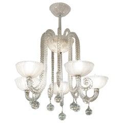Barovier & Toso Italian Art Deco Murano Glass Chandelier