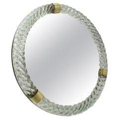 Barovier & Toso Italian Murano Glass Table Vanity Mirror