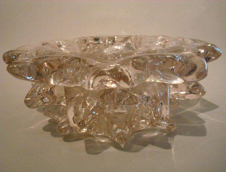 Barovier Toso Italian Vintage Art Glass Rostrato Murano Vase / Bowl, circa 1938 For Sale 5