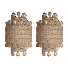 Barovier & Toso Large Glass Sconces, circa 1970