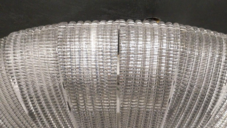 Barovier & Toso Mid-Century Modern Crystal Murano Glass Ceiling Chandelier, 1970 For Sale 5