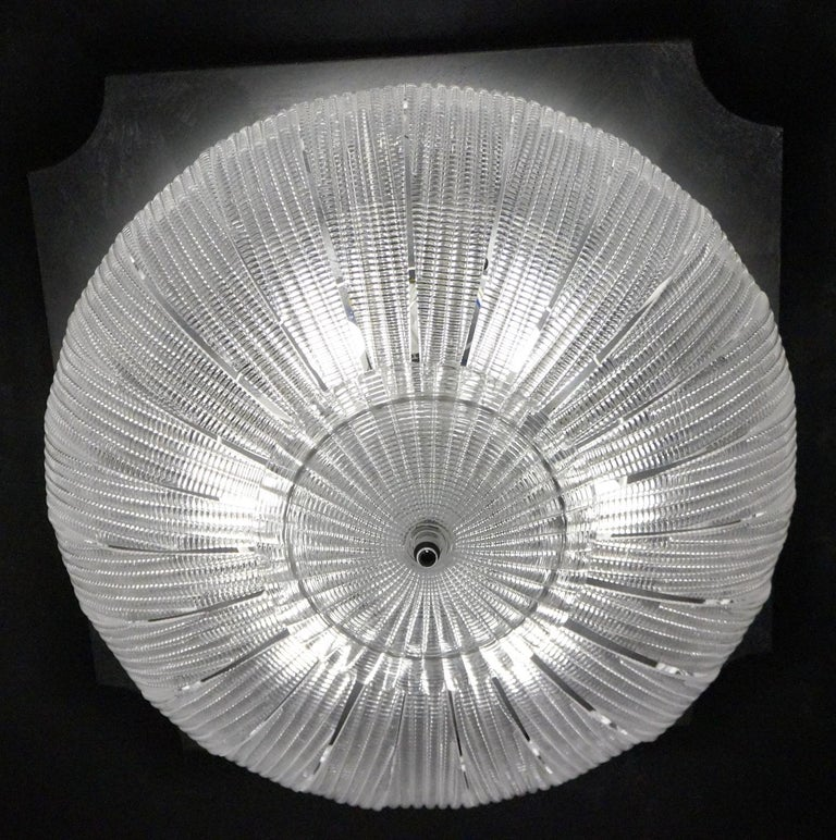 Barovier & Toso Mid-Century Modern Crystal Murano Glass Ceiling Chandelier, 1970 For Sale 9