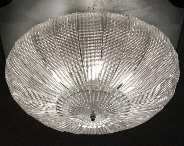 Barovier & Toso Mid-Century Modern Crystal Murano Glass Ceiling Chandelier, 1970 For Sale 10