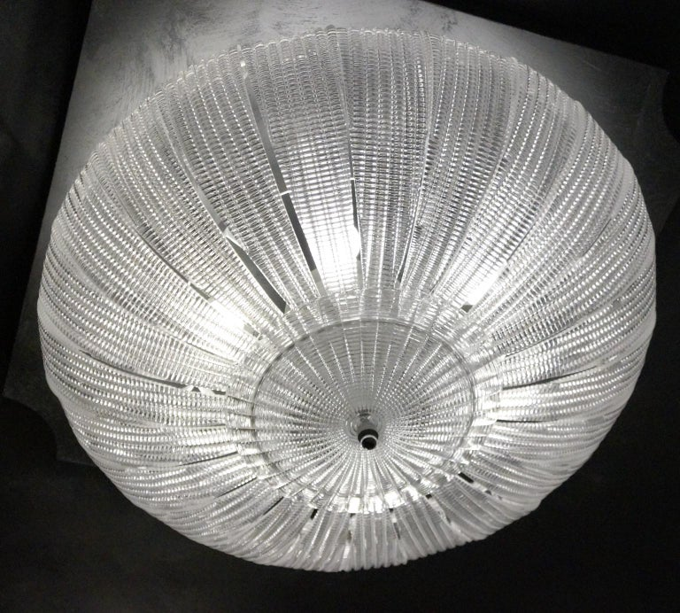 Barovier & Toso Mid-Century Modern Crystal Murano Glass Ceiling Chandelier, 1970 For Sale 12