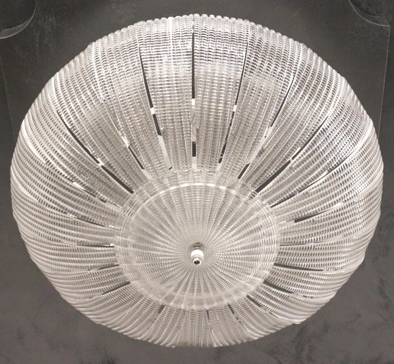 Italian Barovier & Toso Mid-Century Modern Crystal Murano Glass Ceiling Chandelier, 1970 For Sale