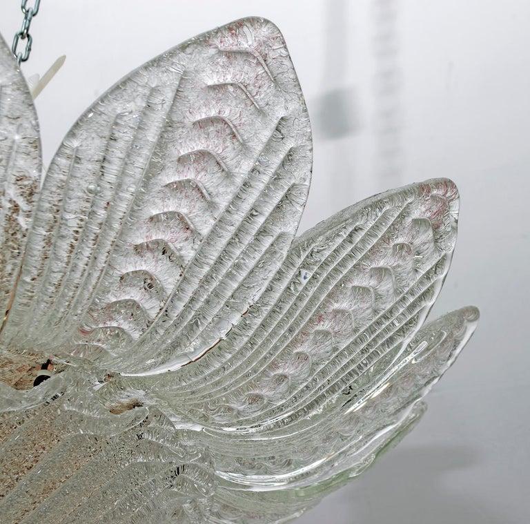 Barovier & Toso Style Midcentury Murano Glass Italian Ceiling Chandelier, 1970s 4
