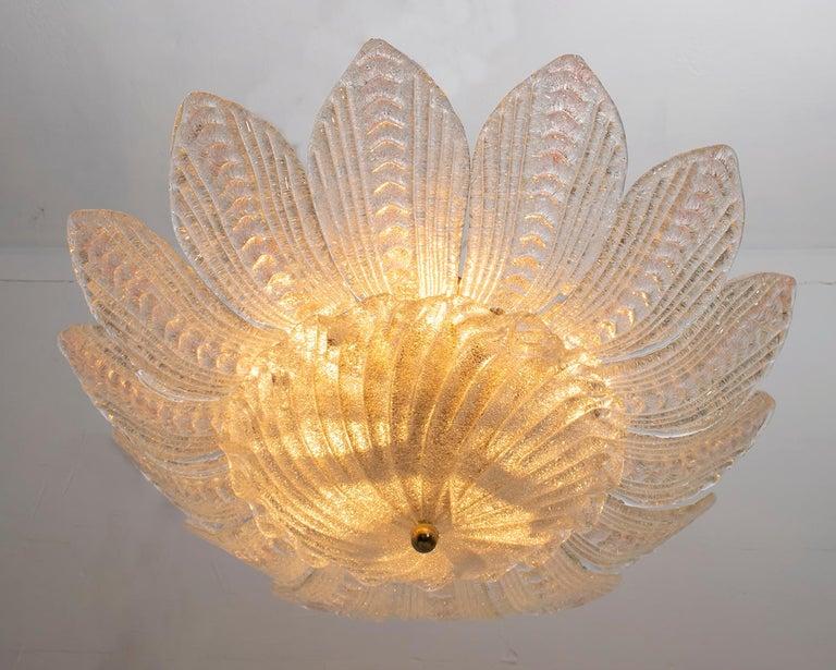 Barovier & Toso Style Midcentury Murano Glass Italian Ceiling Chandelier, 1970s In Good Condition In Cerignola, Italy Puglia