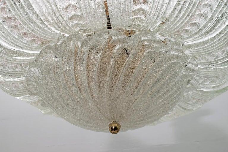 Barovier & Toso Style Midcentury Murano Glass Italian Ceiling Chandelier, 1970s 3