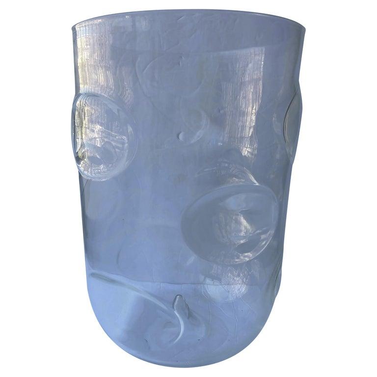 "Barovier Toso, Monumental ""Bolloni"" Murano Glass Vase, Signed For Sale"