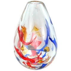 Barovier & Toso Multi-color Murano Glass Vase