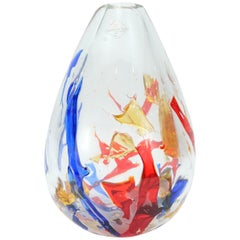 Barovier & Toso Multi-Color Murano Glass Vase, Italy