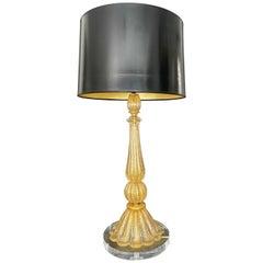 Barovier & Toso Murano Coronado d'Oro Glass Table Lamp