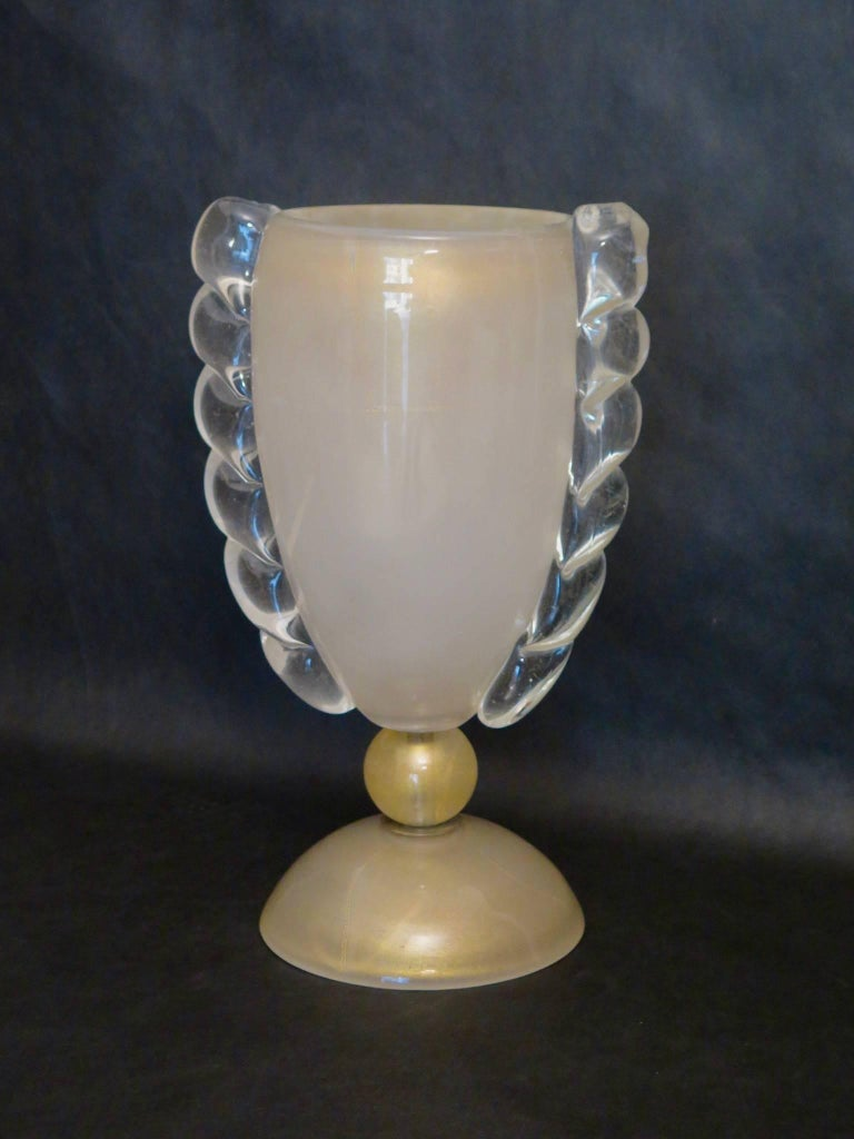 Barovier & Toso Murano Old Colored Glass Italian Midcentury Table Lamp, 1950 In Excellent Condition For Sale In Rome, IT